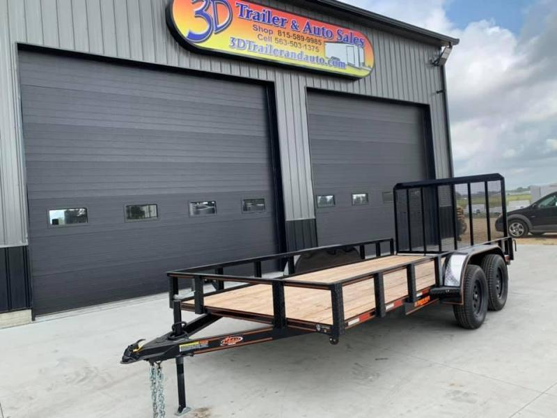 2021 Chase Trailers 6.5' x 16' w/ 4' Gate Open Utility Trailer