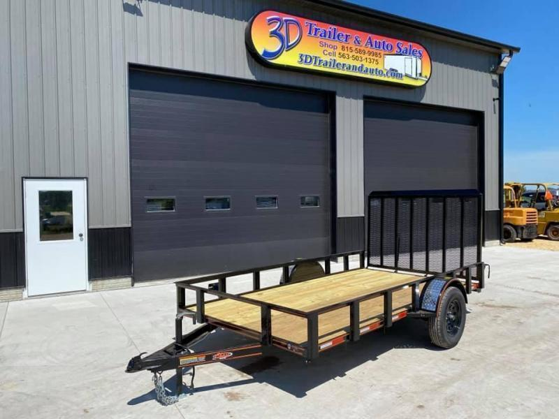 2022 Chase Trailers 6.5' x 12' Open Utility Trailer w/ 4' Assisted Gate