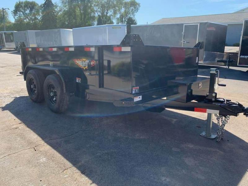 """2020 H & H 76"""" x 12' 10K Dump Bed Trailer"""