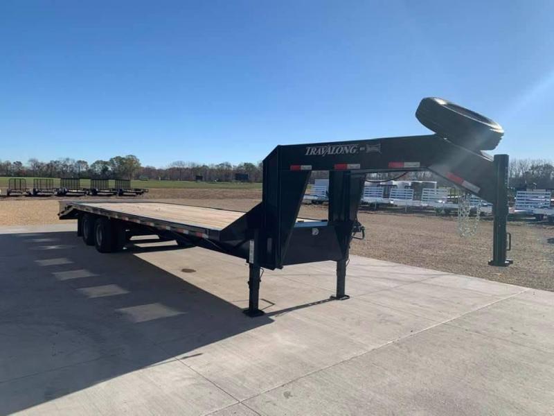 2021 Travalong 29' Gooseneck Deckover 20K GVWR w/ Full Width Ramps
