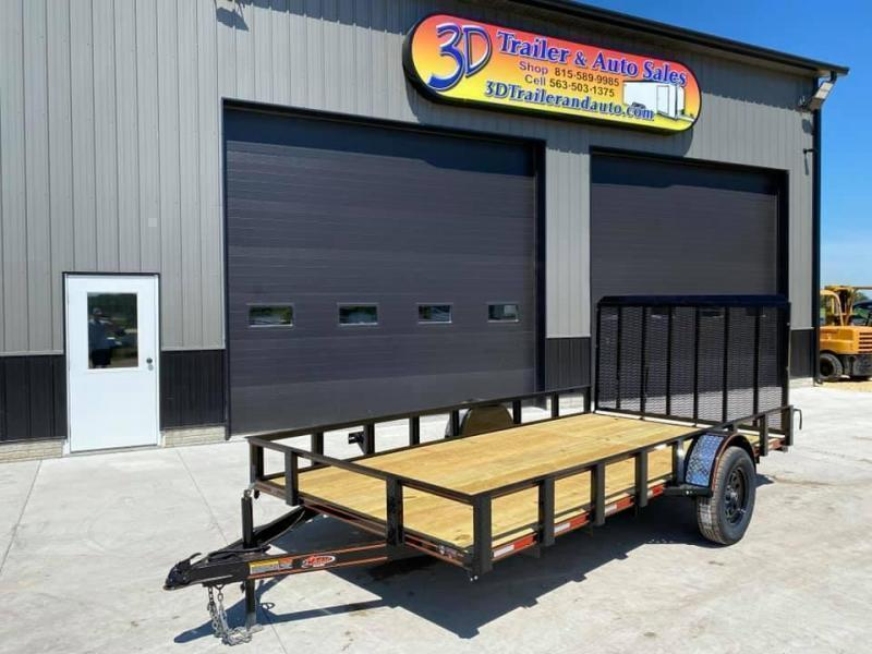 2022 Chase Trailers 6.5' x 14' Open Utility Trailer w/ 4'  Assisted Gate