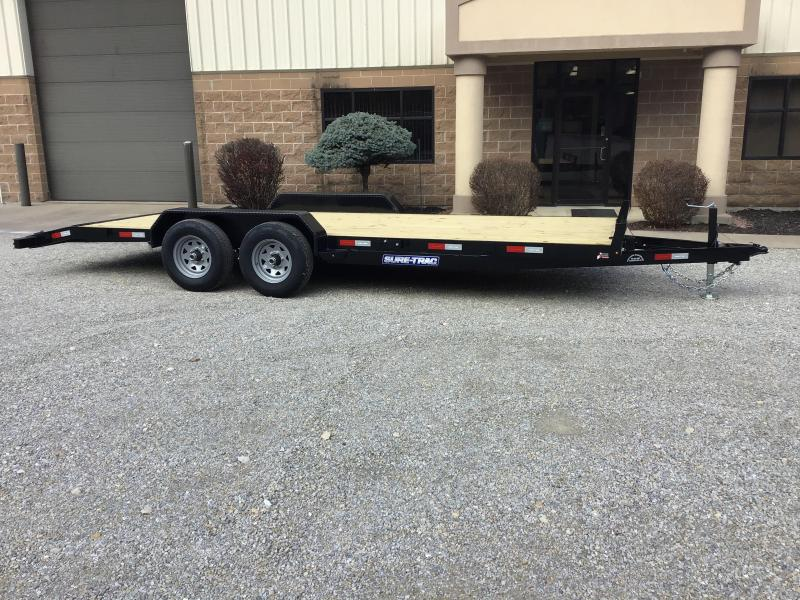 2021 Sure-Trac 7' X 20' Wood Deck Car Hauler 10k