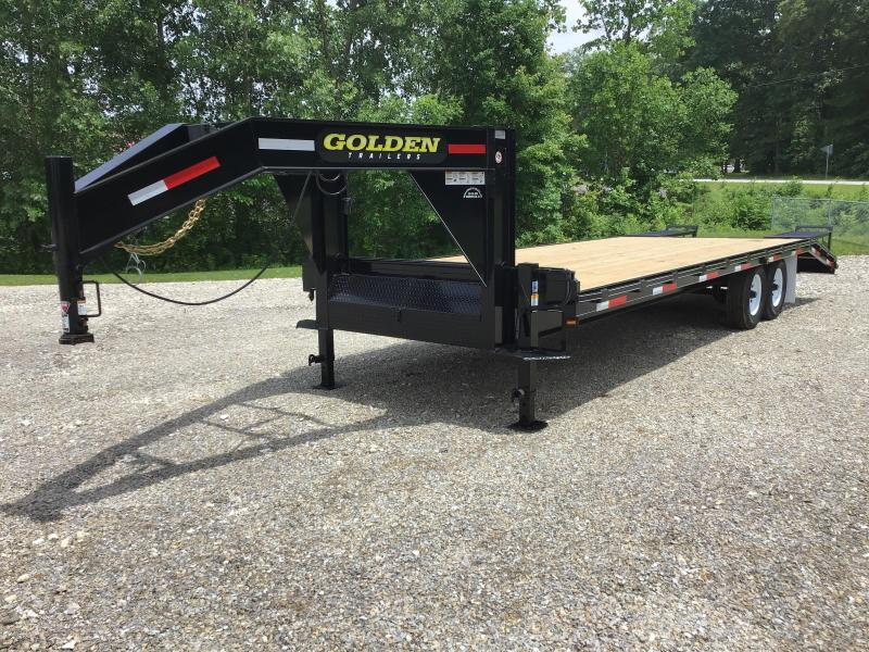 2021 Golden 20' + 5' 14K Flatbed Trailer