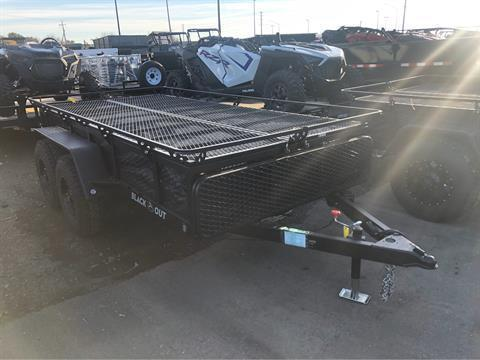 2020 Jumping Jack Trailers 6 X 12 BLACKOUT TRAILER W/ 8' TENT