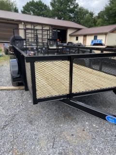 2021 Max Built 76x14 wt 2ft mesh Utility Trailer