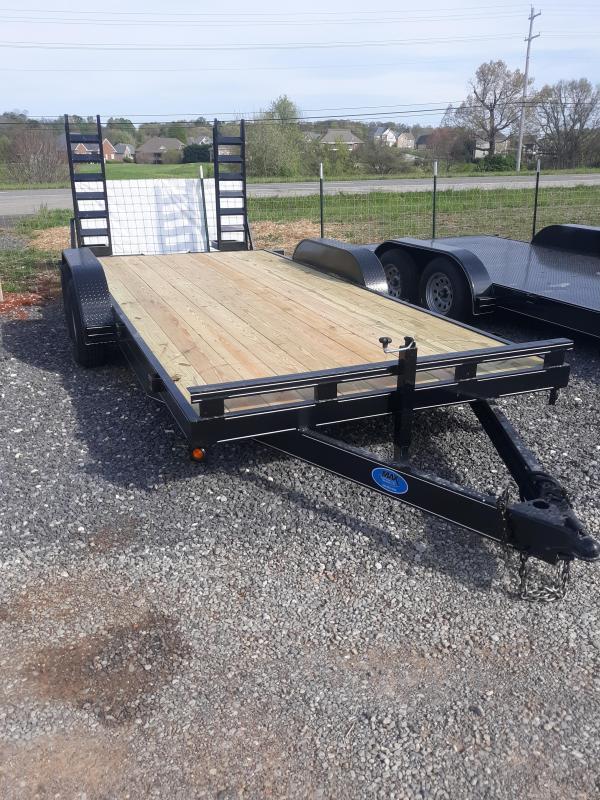 2021 Max Built 82x18 10k wood Equipment Trailer