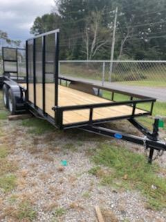 2021 Max Built 76X16WT WITH SIDEGATE Utility Trailer