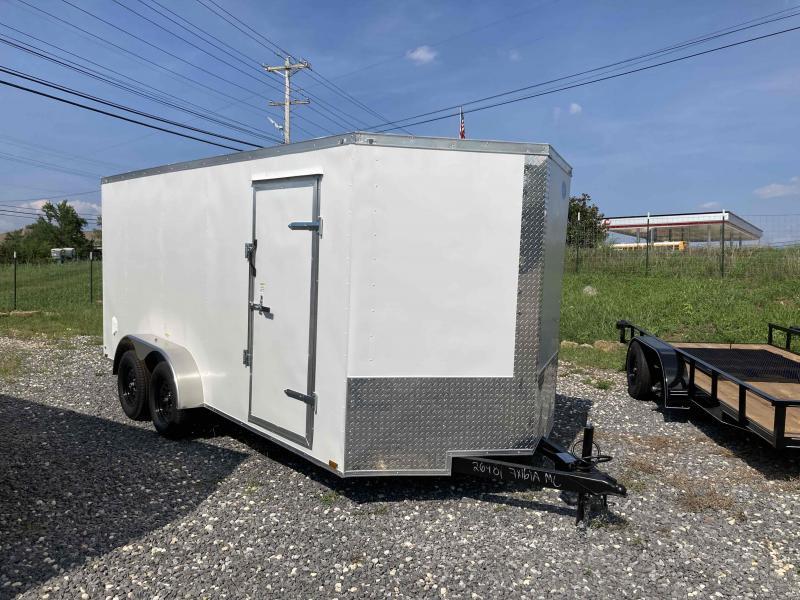 2022 Max Built 7x16 white cargo Enclosed Cargo Trailer