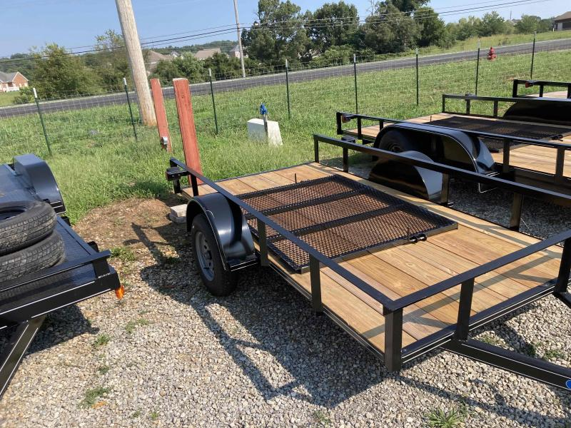 new 5x10 single axle utility trailer