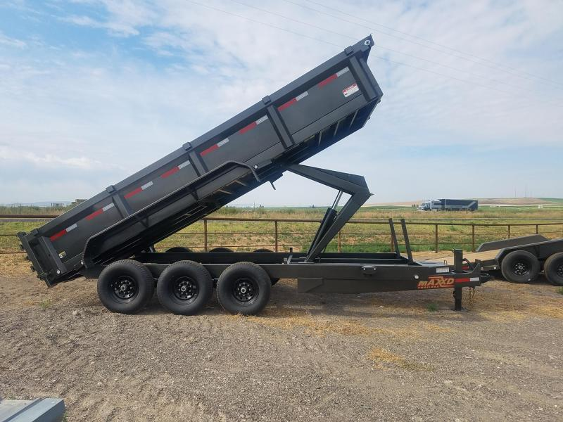 "2021 MAXXD 83""X18' Super HD Dump Trailer Triple Axle"