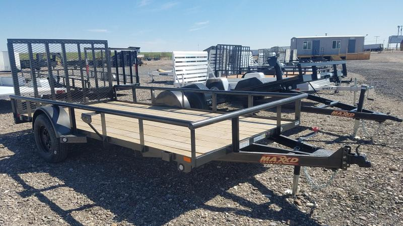 "2021 MAXXD 77"" x 14' Rear Ramp Utility Trailer"