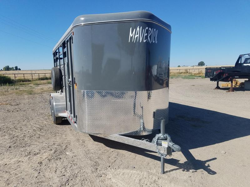 2021 Maverick 17' Stock Trailer Horse Trailer