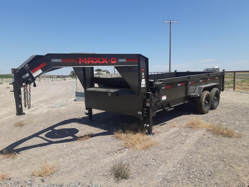 2021 MAXXD 7' x 16' Gooseneck Dump Trailer