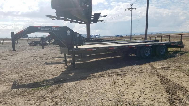 2020 Custom Built 25' Gooseneck 21.5k GVWR Equipment Trailer