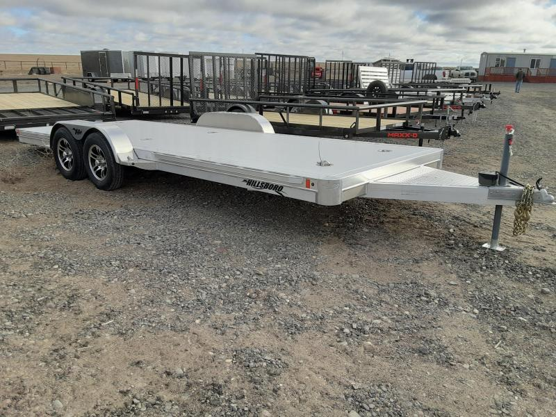 2021 Hillsboro Industries 7' x 20' Aluminum Car Trailer