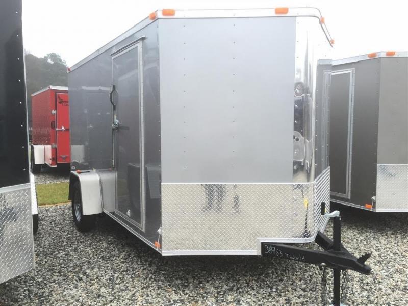 """2021 Freedom Trailers 7x12SA V-Nose* 6'9"""" Interior"""