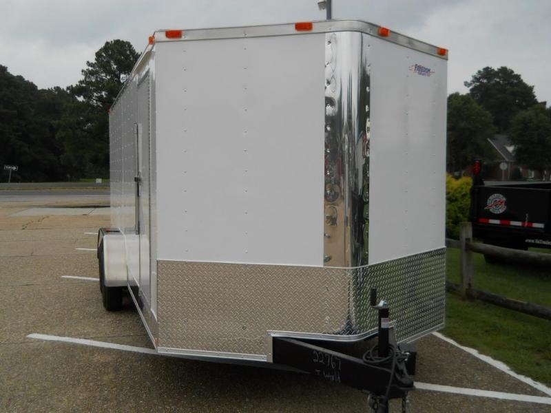 "2020 Freedom Trailers 7x16 V-NOSE*"" RV DOOR REAR RAMP"