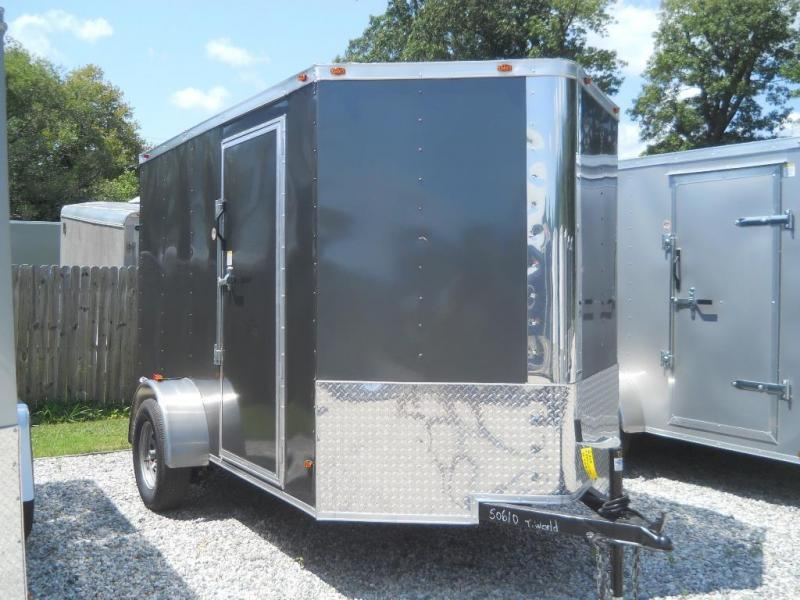 "2021 Freedom Trailers 6x10 V-NOSE*"" RAMP RV SIDE DOOR"