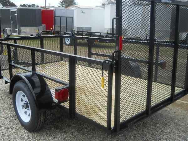 "2021 American 5X10 5'6""X10' 2990 GVWR HI SIDE 4' GATE"