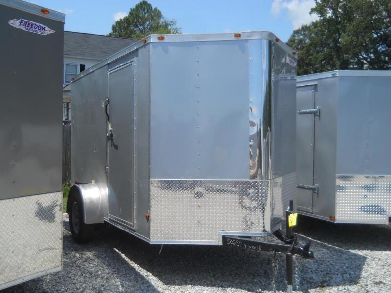 """2021 Freedom Trailers 6x10 V-NOSE*"""" REAR RAMP RV SIDE DOOR"""