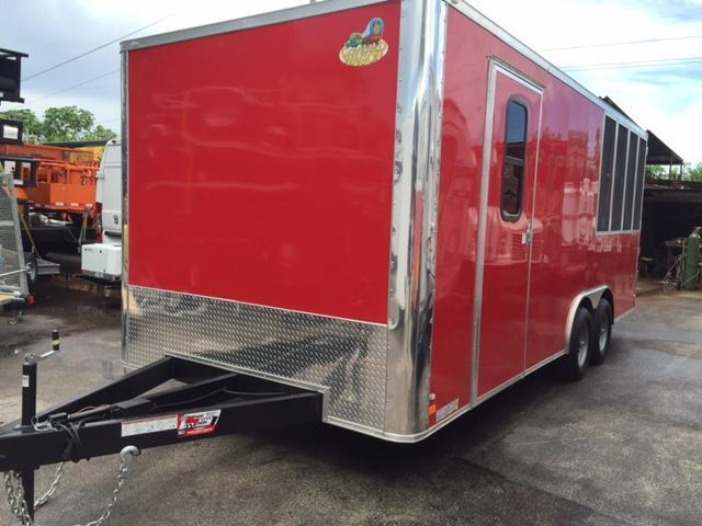 Covered Wagon Trailers 8.6x20 Vending / Concession Trailer