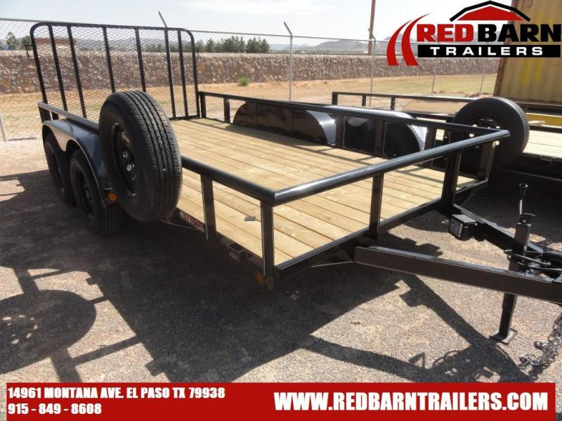 82 x 14  GR Tandem Axle Utility Trailer RAMP GATE