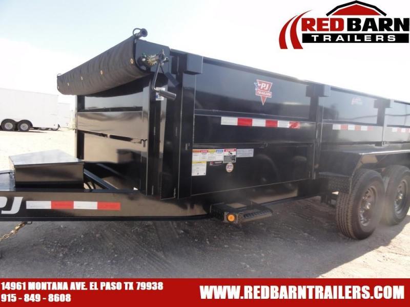 """83"""" X 16 2020 PJ Trailers 83 Low Pro Dump (DL) Dump Trailer"""