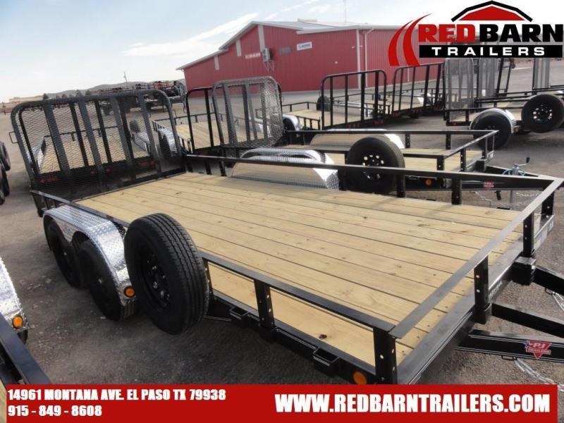 2021 PJ 83X16 Trailers 1U202 Utility Trailer