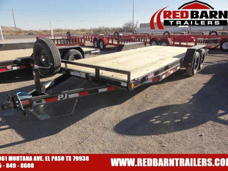 "2021 PJ CE202 5"" CHANNEL EQUIPMENT HAULER UTILITY Equipment Trailer"