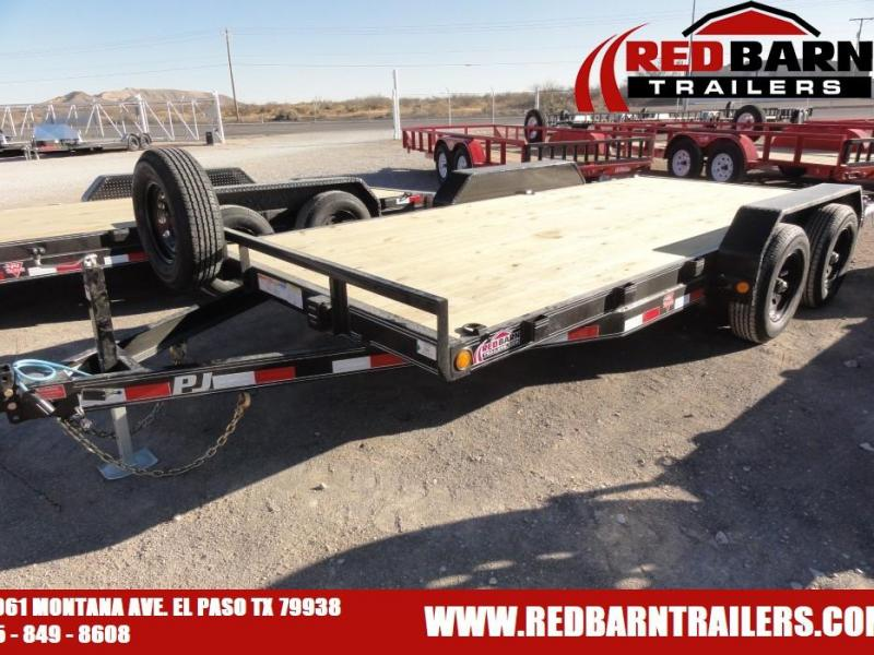 "2021 PJ CE162 5"" CHANNEL EQUIPMENT HAULER UTILITY Equipment Trailer"