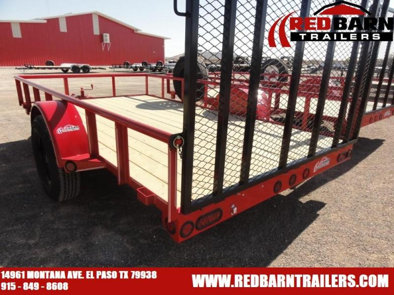 77X12 2021 GR SINGLE AXLE UTILITY TRAILER WITH RAMP GATE