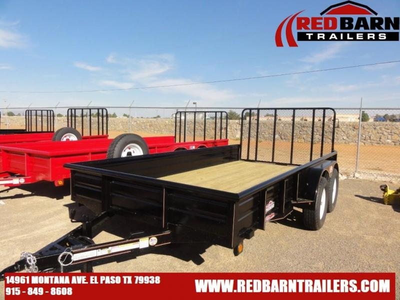 2022 GR 82 X 14 Tandem Axle Utility - RampGate Closed Sides