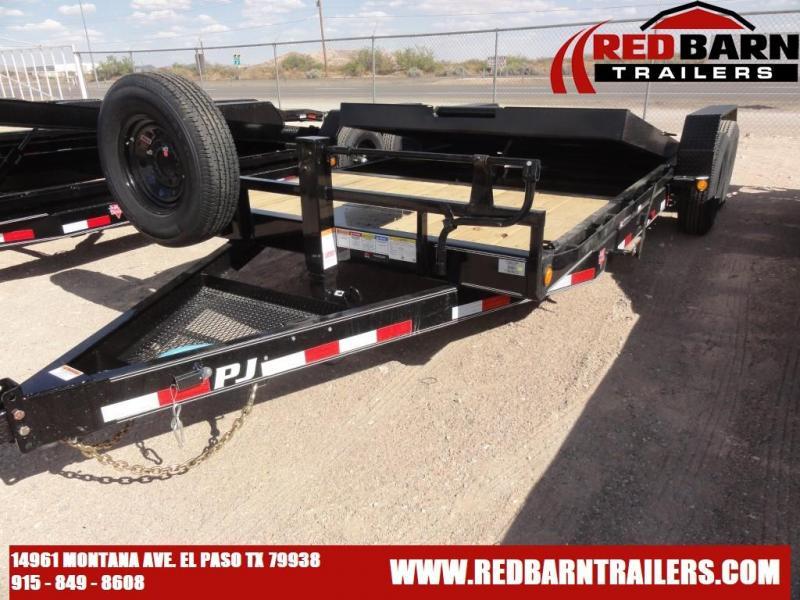 "2021 PJ 7X20 6"" Channel Tilt Car / Racing Trailer T6202"