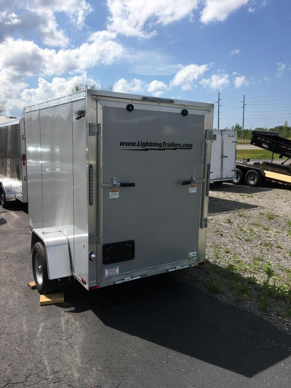 2021 Forest River, Inc. LTF58SA LIGHTNING 5X8 SINGLE AXLE Enclosed Cargo Trailer