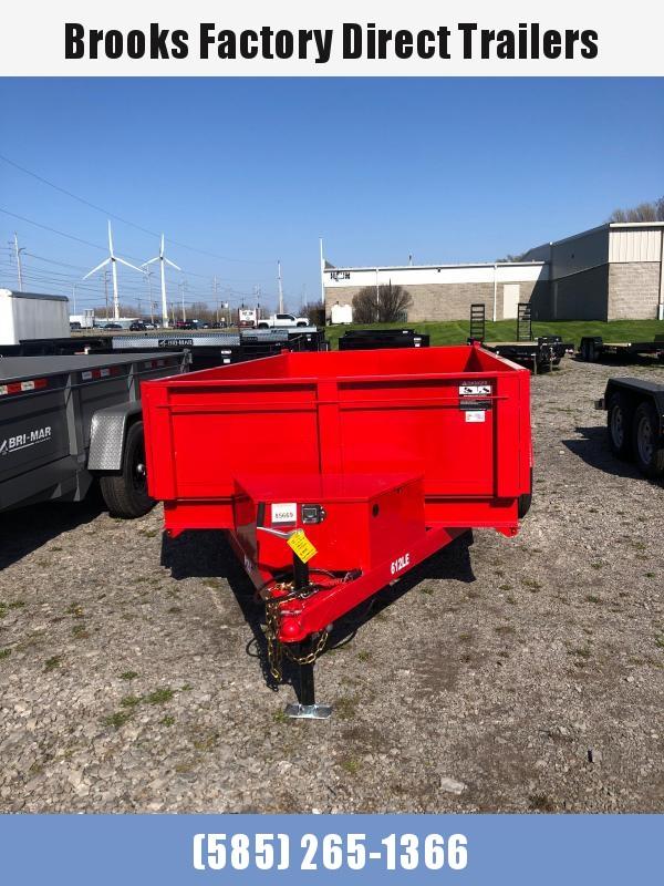 2022 BRI-MAR RED DT612LP-LE-10-A 6x12 Dump Trailer