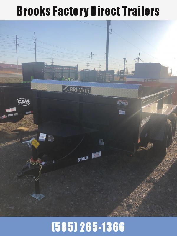 2021 BRI-MAR DT610LP-LE-10-A Dump Trailer BLACK