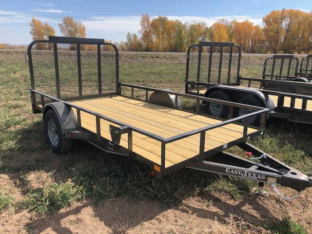 "2021 East Texas 77""X12' Single Axle Utility 3K"