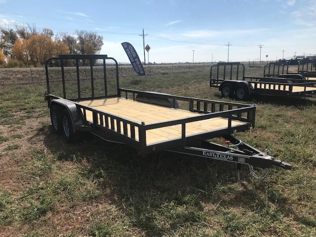 "2021 East Texas 83""X16' Utility 7K Utility Trailer"