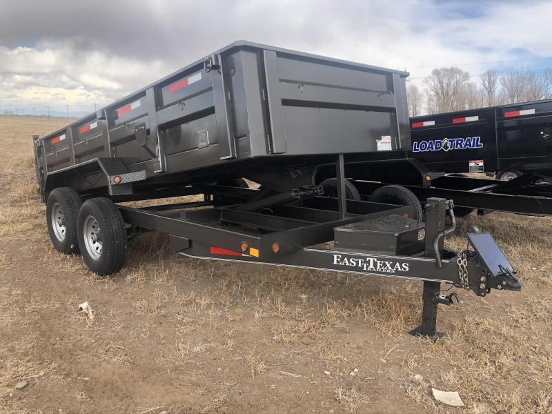 "2019 East Texas 83""X14' Bumper Dump 12K Dump Trailer"