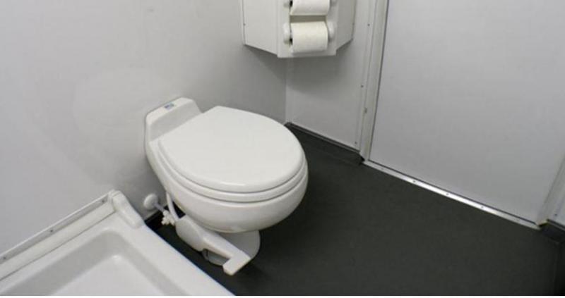 2 Station Restroom Shower Trailer Combo - Full Winter Pkg.