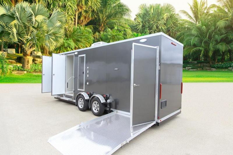 3 Station - ADA +2 Compliant Restroom Shower Trailer Combo