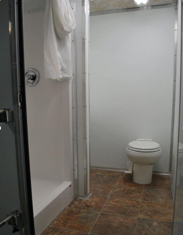 3 Station Restroom Shower Trailer Combo