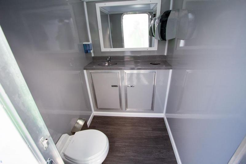 3 Station Restroom Trailer (Winter Heat Pkg., Grey Interior)