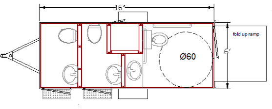 3 Station - ADA Restroom Trailer +2 Station