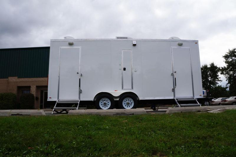 4 Station Restroom Shower Trailer Combo