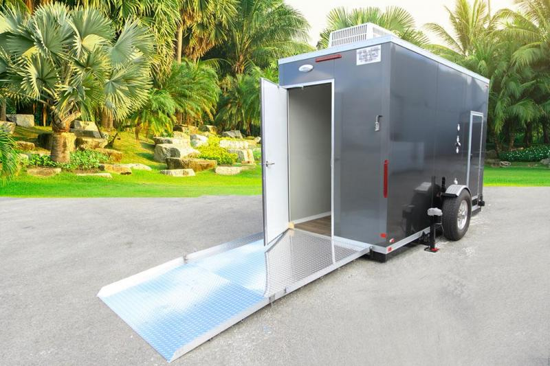 1 Station ADA Shower Trailer Portable Restroom Combo