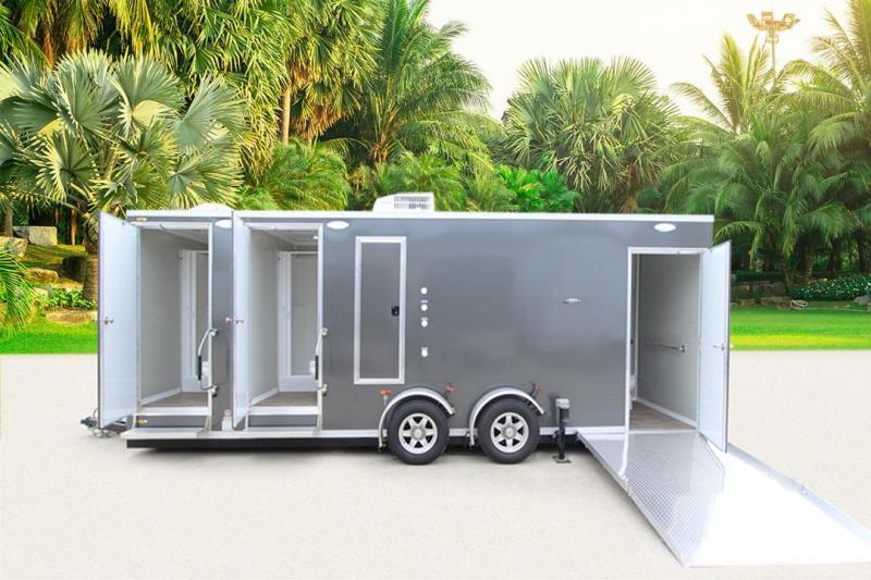 3 Station - ADA +2 Compliant Shower Trailer Restroom Combo