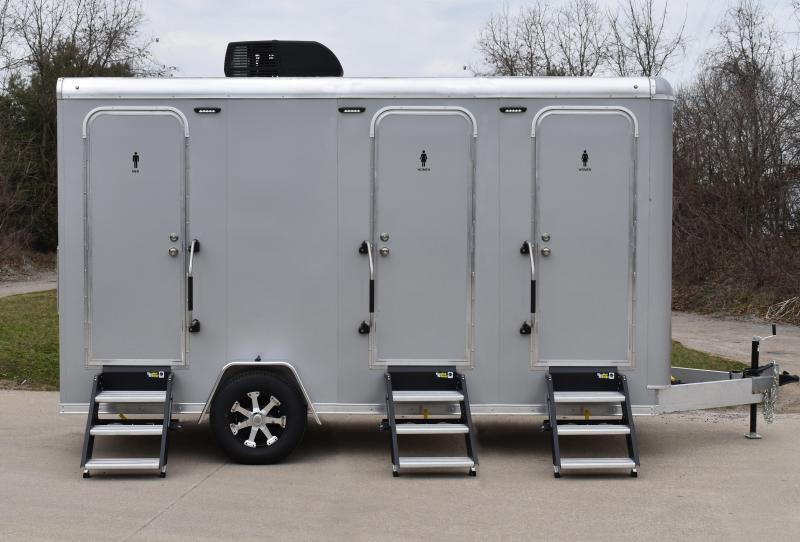 3 Station Shower Trailer with Laundry Suite - All Aluminum