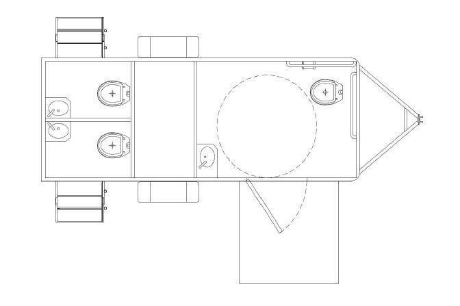 3 Station - ADA +2 Restroom Trailer