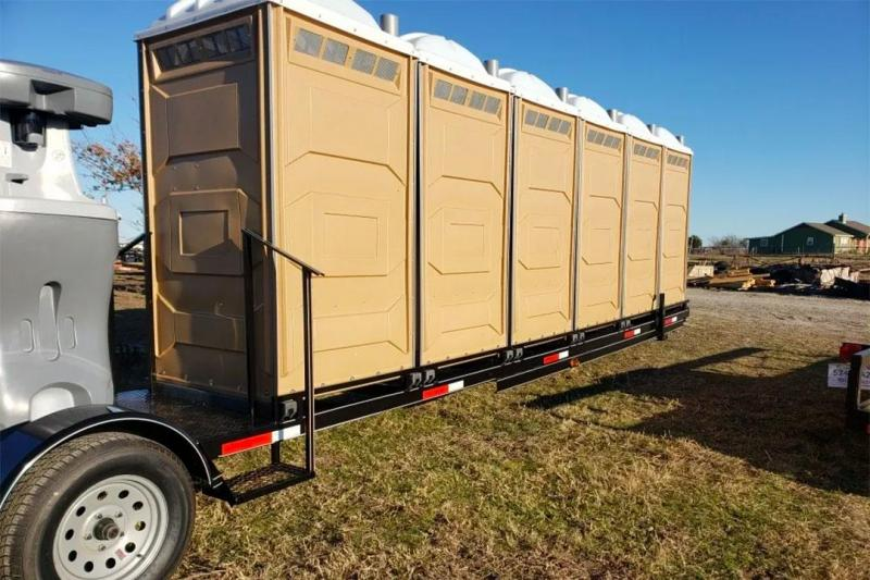 6 Station Porta Potty Restroom Trailer